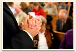 hands together in worship